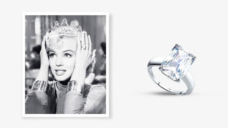 Помолвочное кольцо Мэрилин Монро