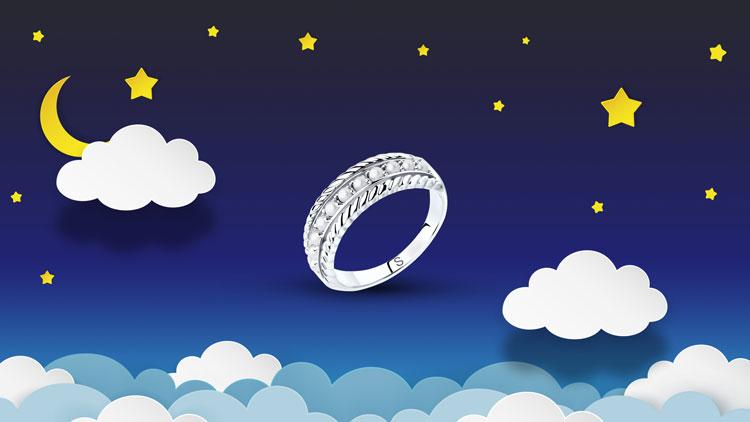 Серебряное кольцо с микрожемчугом