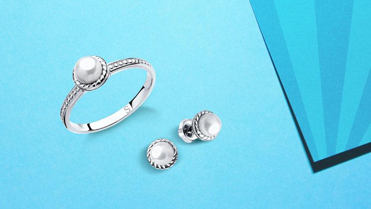 Серебряные украшения с жемчугом