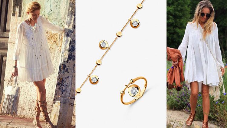 Кольцо и браслет из золота