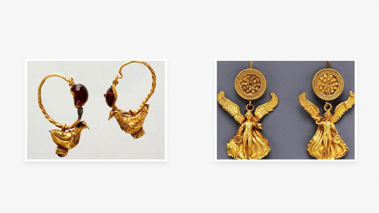 Серьги в Древней Греции