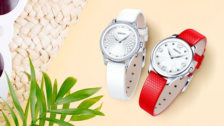 Серебряные часы, коллекция Flirt