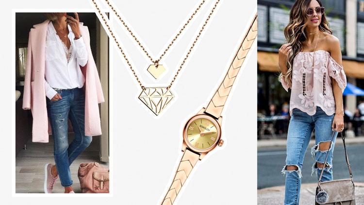 Золотой браслет для часов: сочетания