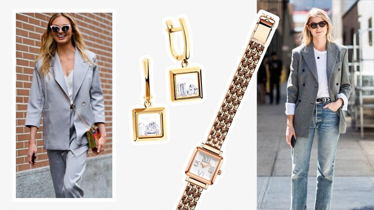 Золотой браслет для часов на каждый день