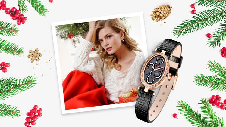 Золотые часы в подарок для девушки