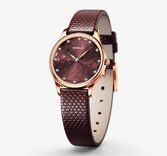 Женские золотые часы, коллекция Ideal
