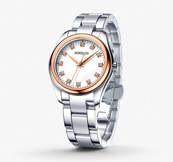 Женские часы из золота и стали