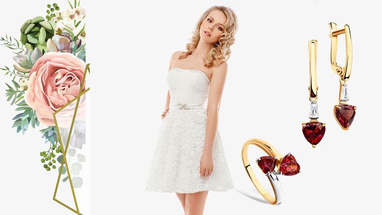 Кому подходит короткое свадебное платье